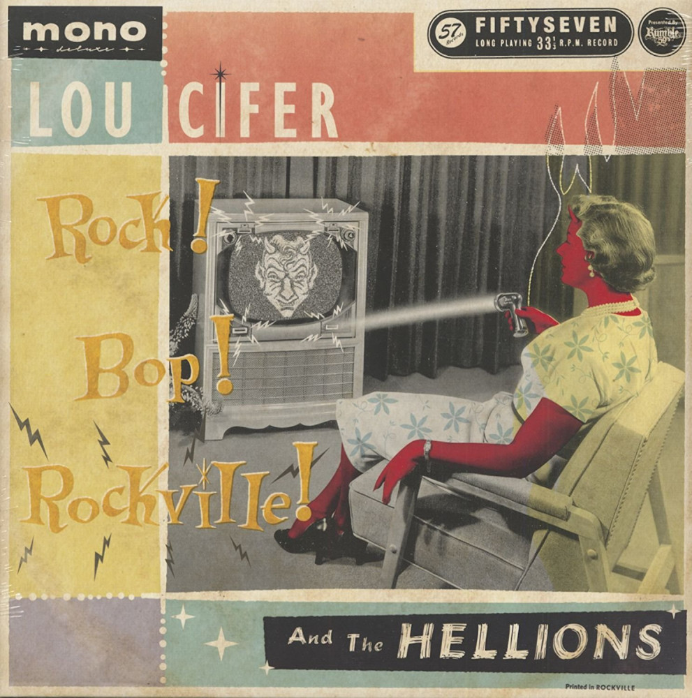 LP - Lou Cifer & The Hellions - Rock, Bop, Rockville!