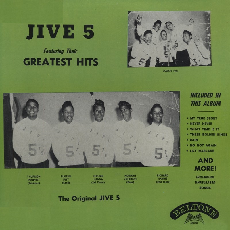 LP - Jive 5 - Greatest Hits