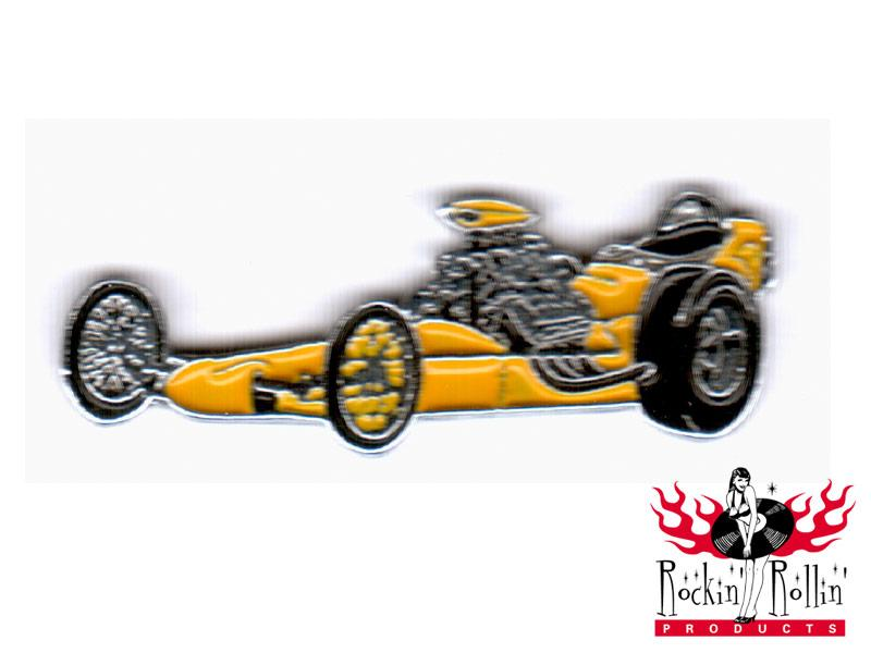 Hot Rod Pin - Dragster, gelb