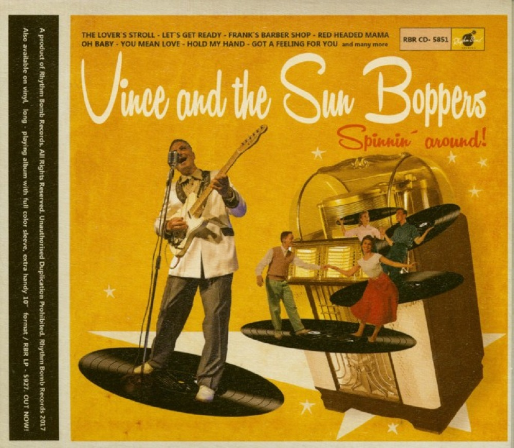 CD - Vince and the Sunboppers - Spinnin' Around