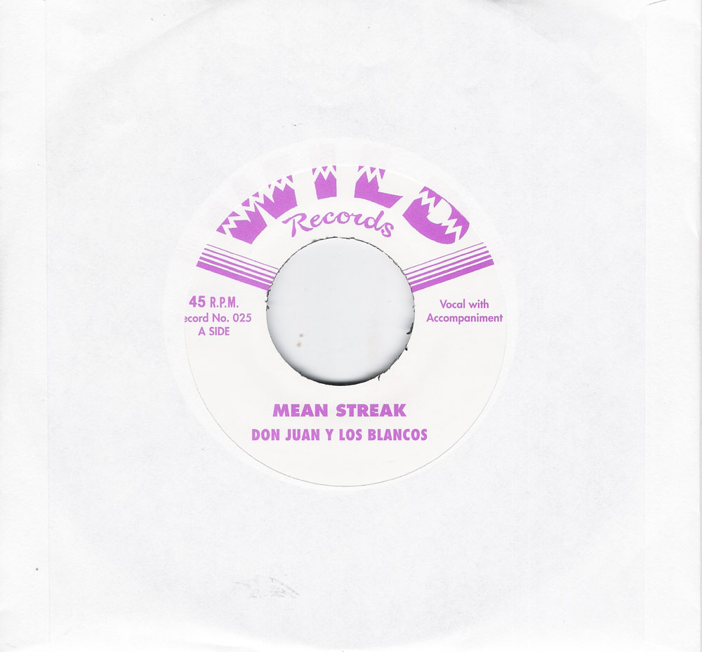 Single - Don Juan Y Los Blancos - Mean Streak, She Don't Love Me