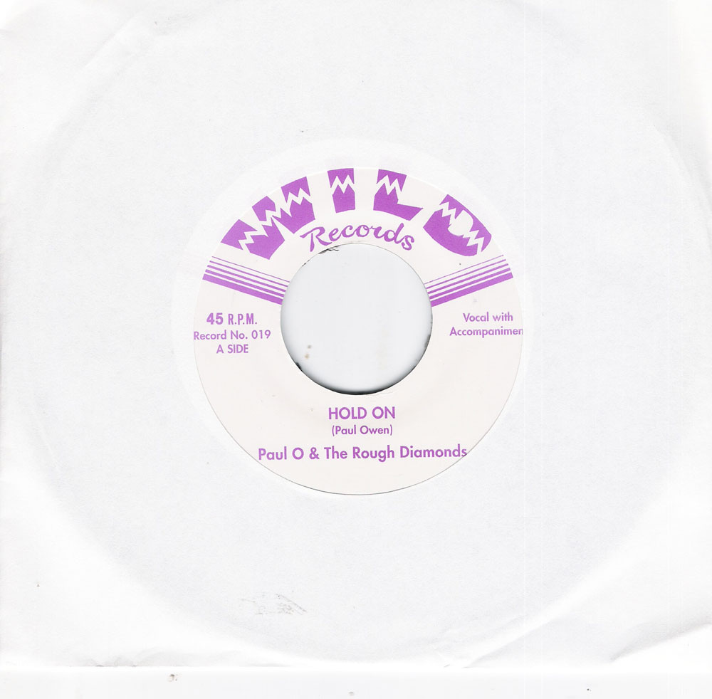 Single - Paul O. & the Rough Diamonds - Hold On, Swinging Time On Planet 9
