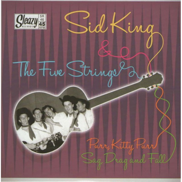Single - Sid King & The Five Strings - Purr, Kitty, Purr