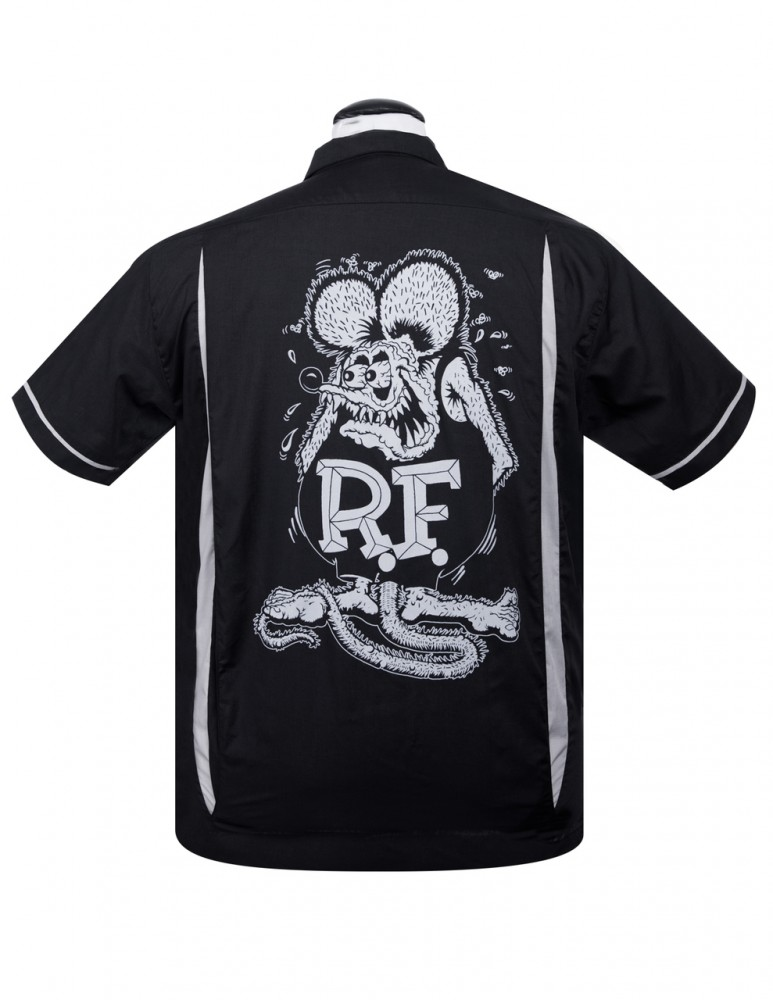 Steady Hemd - Rat Fink Kustoms Bowler Button Up