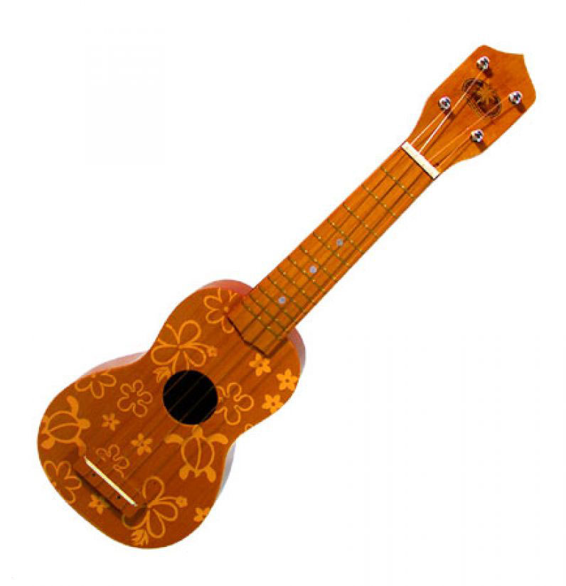 Ukulele - Brown Honu Floral