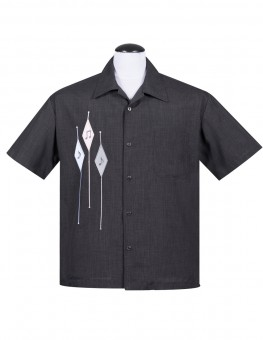 Steady Hemd - Diamond Note Shirt - Grau