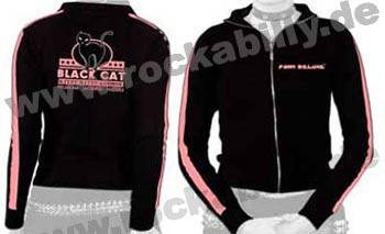King Kerosin Girl Trainingsjacke - Black Cat