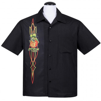Steady Hemd - Rat Fink Pinstripe Panel Button Up