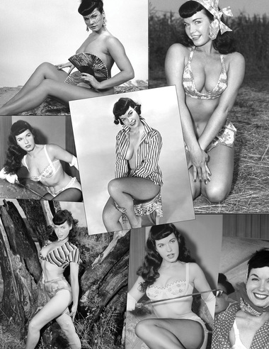 Steady-Hemd - Betty Page - Collage Black