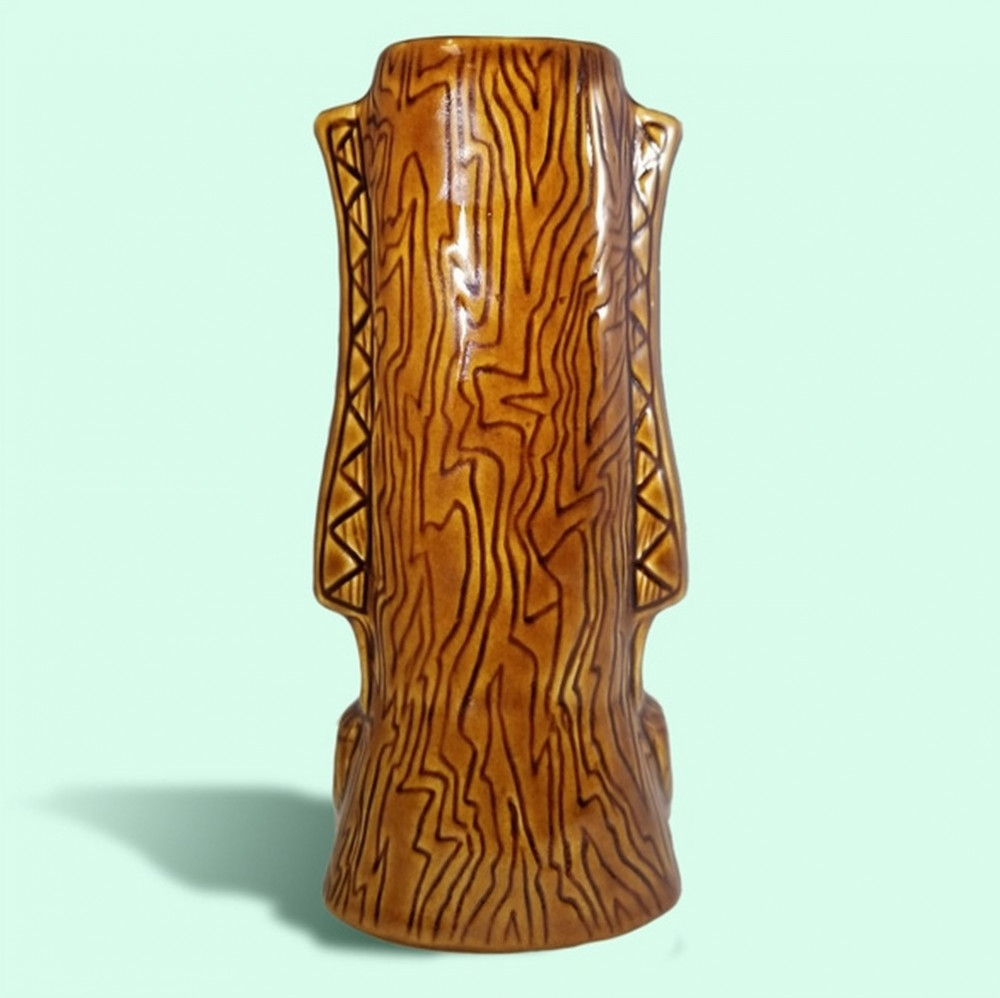 Tiki Mug - Pray for Surf, Brown