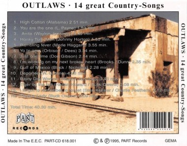 CD - Outlaws - 30 Years Country Music