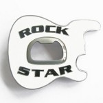 Gürtelschnalle - Rock Star Guitar White