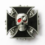 Gürtelschnalle - Iron Cross Skull