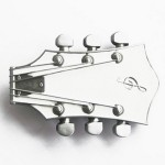 Gürtelschnalle - Guitar White