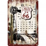 Calendar Tin-Plate Sign 20x30 cm - Route 66 Desert