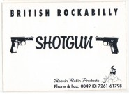 Aufkleber - Shotgun - British Rockabilly