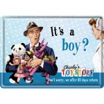 Metal Postcard - It's A Boy?