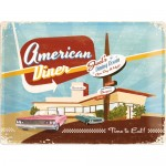 Tin-Plate Sign 30x40 cm - American Diner