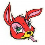 Frank Kozik Aufkleber - Bunny Evil, klein