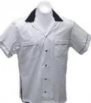 Classic Bowlingshirt - White-Black