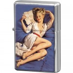 Feuerzeug - Pin up - Blue Bed