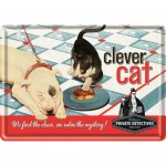 Metal Postcard - Clever Cat