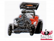 Hot Rod Pin - Dragster Front schwarz rot