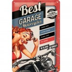 Blechschild 20x30 cm - Best Garage - Red