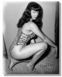 Leinwand Bild - Bettie Page? Pin Up Vixen