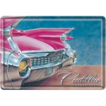 Metal Postcard - Pink Caddillac
