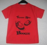 Kinder Shirt - Teddy Boy Boogie, Red
