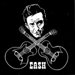 Daredevil Aufkleber - Johnny Cash Guitars