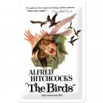 Blechschild 20x30 cm - Movie Art - Alfred Hitchcock's The Birds