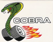 Hot Rod Aufkleber - Cobra