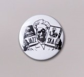 Button - Jazz & Ska Cook, weiss