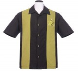 Steady-Hemd - Mickey Button Up, Black