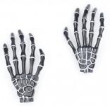 Haarspange (Paar) - Skeletthand Hände - Schwarz
