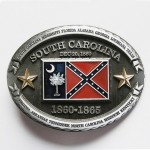 Gürtelschnalle - South Carolina Confederate State Flag - With Gold Stars