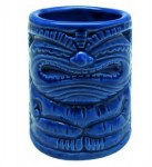 Tiki Shot Mug - Happy, Blue