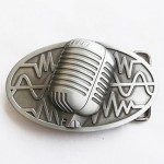 Gürtelschnalle - Microphone Rock Music