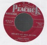 Single - Sonny Parker - She Set My Soul On Fire, Disgusted Blues