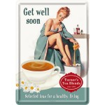 Metal Postcard - Get Well Soon