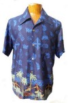 Hawaii - Shirt - Hula Dancer Blue