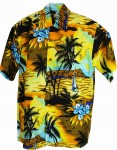 Hawaii-Shirt Für Kinder - Sunset Gelb