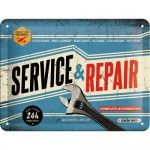 Tin-Plate Sign 15x20 cm - Service & Repair