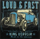 King Kerosin Aufkleber - Loud And Fast, blau