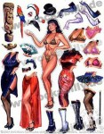 Bettie Page - Magnet-Set - Dave Stevens