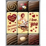 Magnet-Set - I Love You Chocolate (9-tlg.)