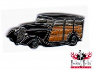 Hot Rod Pin - Street Rodder Station Waggon, schwarz