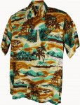 Hawaii-Shirt Für Kinder - Tropical Gelb